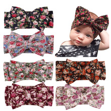 Baby Kids Girl Child Bohemia Headband Toddler Newborn Infant Floral Turban Bow Head wrap Tie Headband  Headwear Hair Accessories