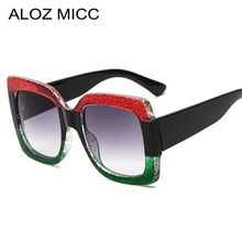 ALOZ MICC Hot Big Frame Square Sunglasses Women Brand Designe Oversized Luxury Men Sun Glasses Lady Shades UV400 Q220