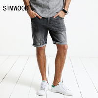 SIMWOOD 2017 Summer New Denim Shorts Men Fashion Ripped Brand Clothing Slim Fit Vintage Knee Length