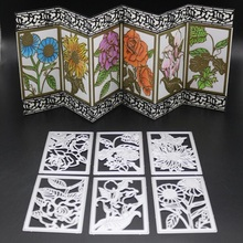 FeLicearts new flower rectangle dies for scrapbooking DIY albulm photo decorative embossing paper card making craft