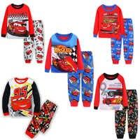 Nouveaux garçons mcqueen pyjamas ensemble 95 voitures dessin animé enfants vêtements de nuit filles mignon maison pyjamas enfants ensemble filles coton pyjamas taille 2-7Y