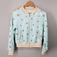 Luxury Embroidery Jackets 2018 Autumn Long Sleeve New Fashion Stars Sequined Beading Women High Quality Jacket