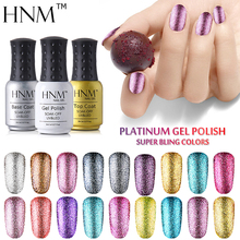 HNM Super Bling Gel Nail Polish 8ML UV Nail Gel Polish Platinum Gel Lak Vernis Semi Permanent GelPolish Gel Varnish Lacquer