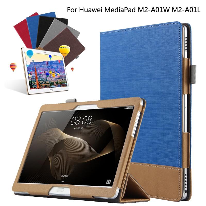 af3e0499e25 Moda empalme colorido libro Stand Flip PU Funda de cuero para Huawei  MediaPad M2 10 M2-A01W M2-A01L 10,1 Tablet + película + pluma