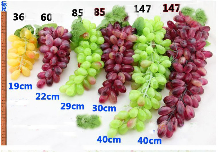 nicebuty grande ramo Artificial verde uvas decorativo fruta