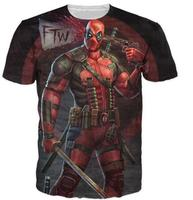 Buena Calidad Deadpool Camiseta Marvel cómics serie Tees Estilo Sexy 3D Imprimir Tops Mujeres Hombres Trajes Pullover