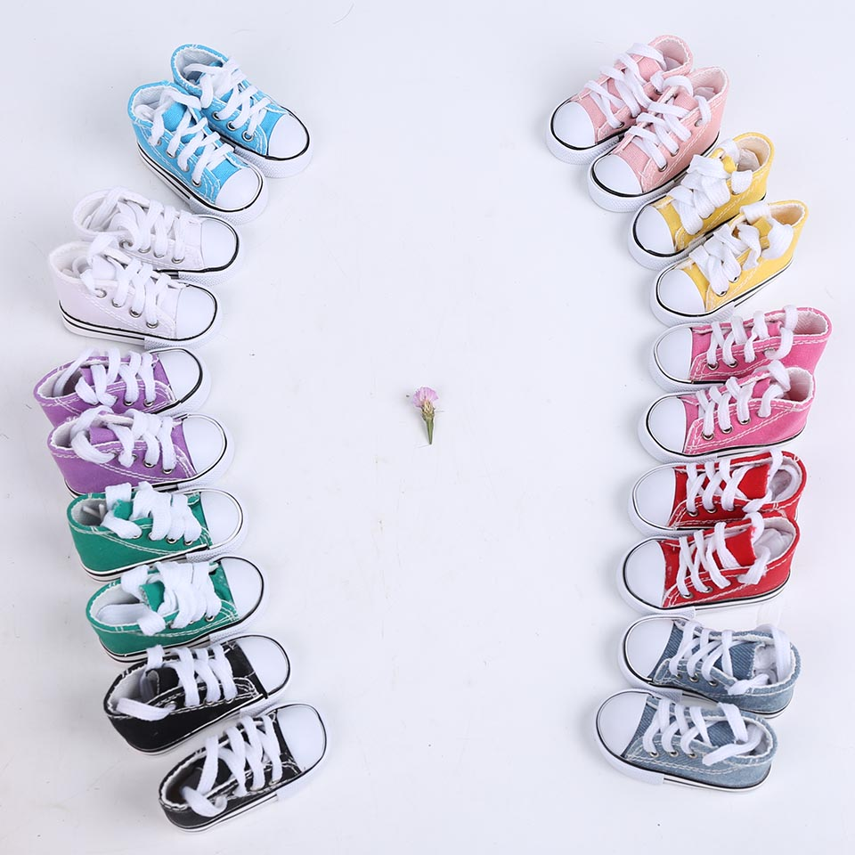 Cataleya 7.5cm 5cm Canvas Shoes For BJD Doll Fashion Mini shoes for dolls Russian DIY handmade Accessories