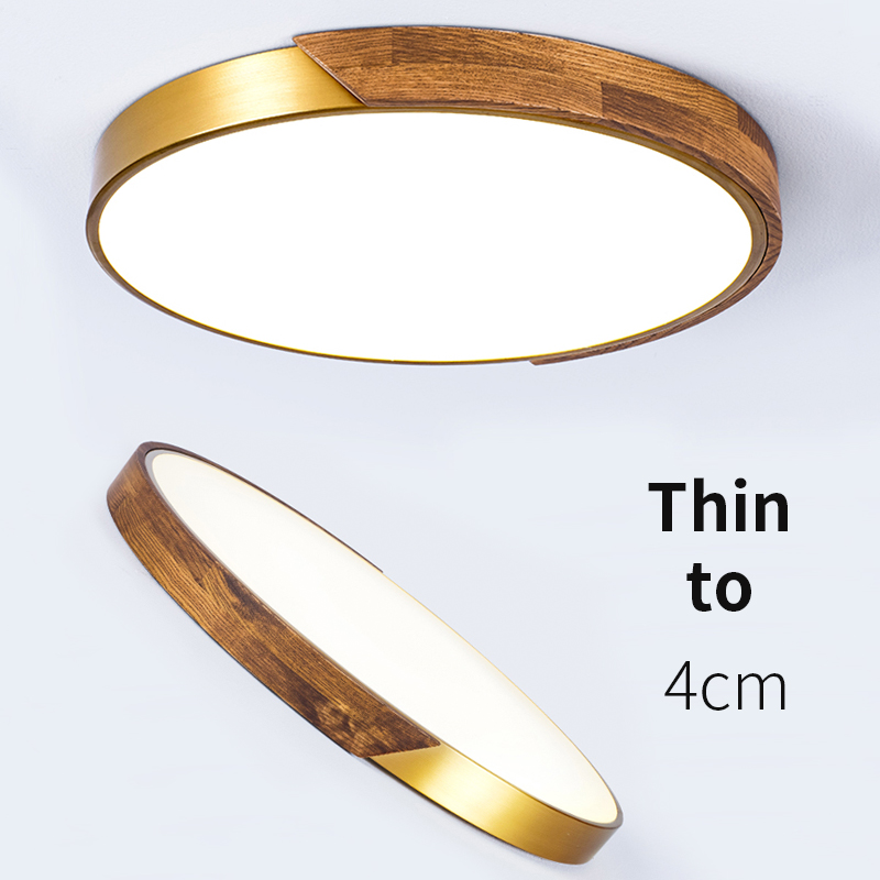 EL LED Moderne Acryl kupfer Runde 5 cm Super Dünne LED Lampe LED Decke Licht. decke Lampe Für Foyer Schlafzimmer