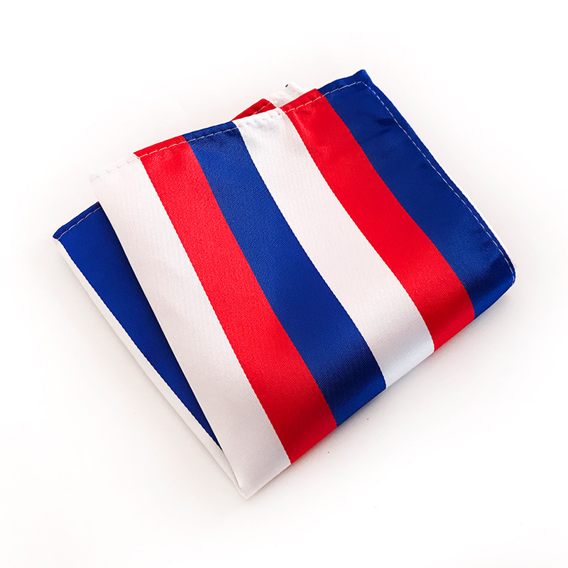 Men Hankerchief Square Upscale Polyester Fashion Handkerchief Towel For Accessories Formal Stripes Pocket Pocket Towel