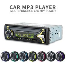 12V 1 DIN In-Dash Bluetooth Car Audio Player 7 Color Light Car Stereo FM Radio MP3 Audio Player Hands-free Calls Aux SD USB MP3 цена и фото