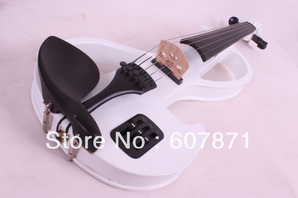 new 5 Strings 4/4 Electric violin  6.5 Big Jack  white handmade new solid maple wood brown acoustic violin violino 4 4 electric violin case bow included