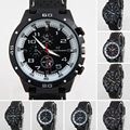 1 unid Top Hombres reloj masculino reloj de Cuarzo Horas Analógico de Pulsera Digital LED Reloj Deportivo Militar Del Ejército Relojes de silicona redondo X3