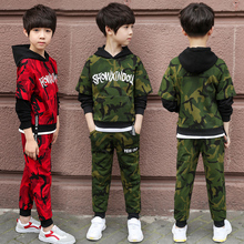 Spring Autumn Boys Clothing Sets Teenager Tracksuit Children Sports Suits Hooded Sweatshirt+Pants Kids