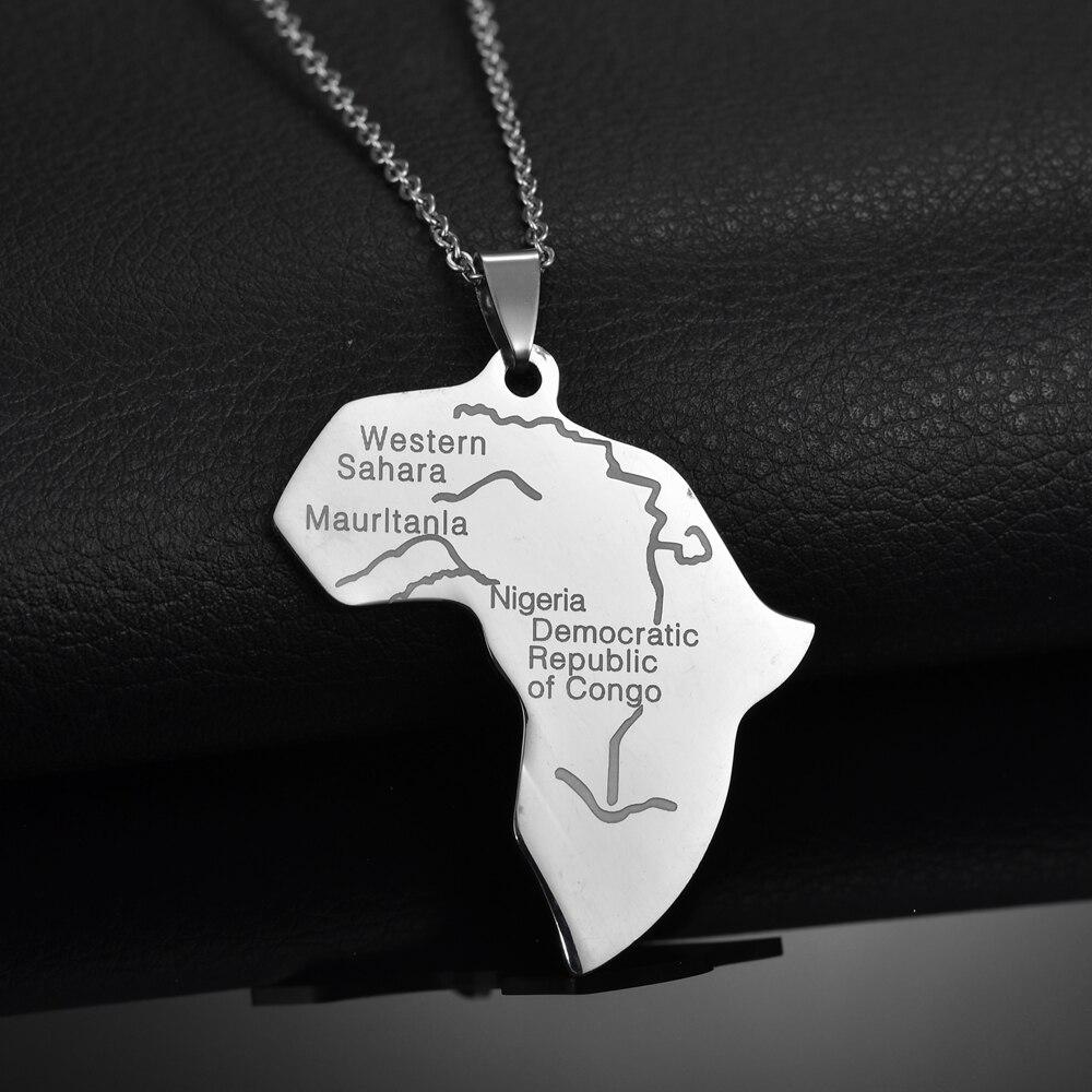 Купить memolissa кулон карта африки ожерелье для женщин и мужчин из