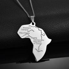 Memolissa кулон Карта Африки ожерелье для женщин и мужчин из