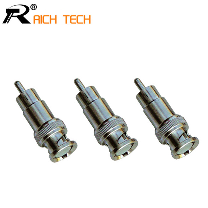 BNC Male to RCA Male Coax Cable Connector Adapter M/M Coupler for CCTV Camera 3pcs/lot 5pcs bnc male to rca male coax cable connector adapter f m coupler for cctv camera cable connector accessories