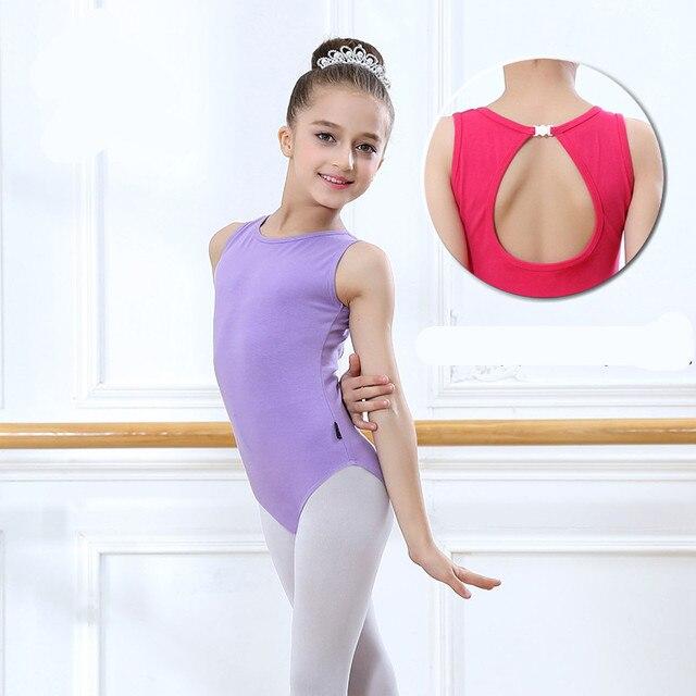 90d5cb52a Leotardos de Ballet para niñas sin mangas gimnasia cuerpo Ballet niños  danza ropa algodón bailarina mono