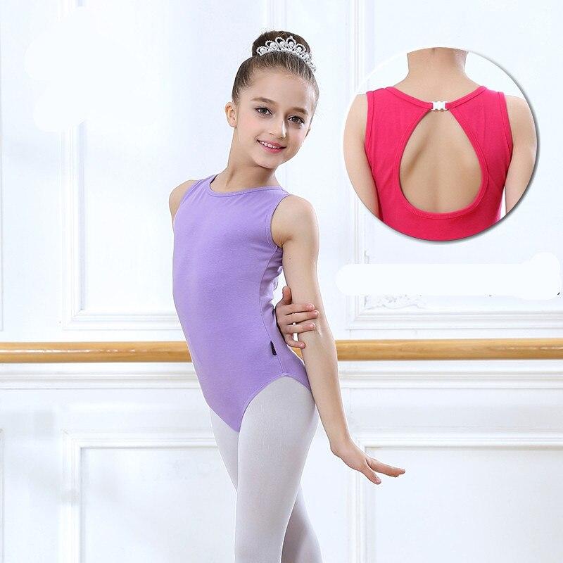 Toddler Ballet Leotards For Girls Sleeveless Gymnastics Body Ballet Children Dance Clothes Cotton Ballerina Bodysuit Jumpsuit