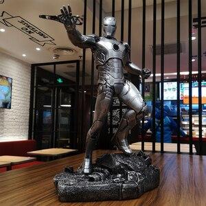Image 3 - O vingador mk43 homem de ferro 1/4 escala corpo inteiro 50 cm estátua decoração para casa collectible figura ação resina estatueta presente para homem menino
