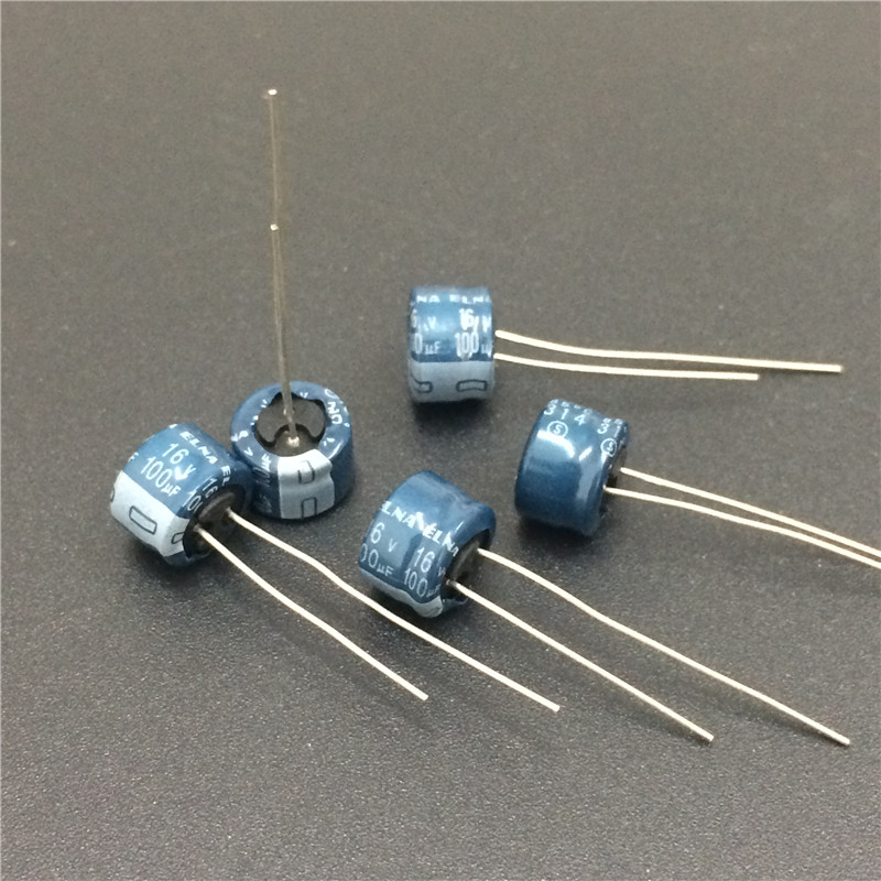 100pcs <font><b>100uF</b></font> 16V Japan ELNA 8x5mm Low Profile 16V100uF <font><b>Audio</b></font> capacitor image