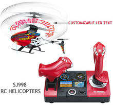 Free Shipping Newest SJ998 3 5CH RC Helicopter Fligt Simulator Remote Cotrol Helicopters with Customizable LED