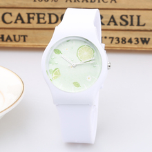 New Brand Fashion Cute Harajuku Lemon Mini Women Children Watch Waterproof Jelly Sport Watch For Girls Quartz Wristwatch(China)