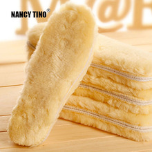 NANCY TINO Unisex Plantillas Thick Pad Warm Insoles Imitation Wool Alta calidad Breathable Hombre / Mujeres Boots Thermal Plantillas 35-45