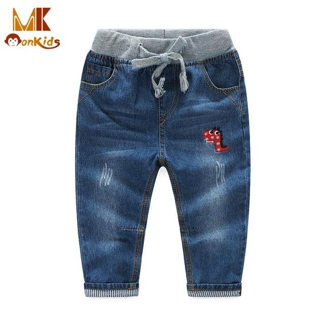 Monkids Menino Calça Jeans Meninos Crianças Roupas para Crianças de Jeans Bebê Calças Jeans Bebê calça Casual Calças Moda Calças Justas Bebês