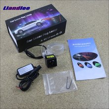Liandlee Anti Collision Laser Fog Lights For Honda Jazz 2002~2011 Car Rear Distance Warning Alert Line Safe Drive Light цена