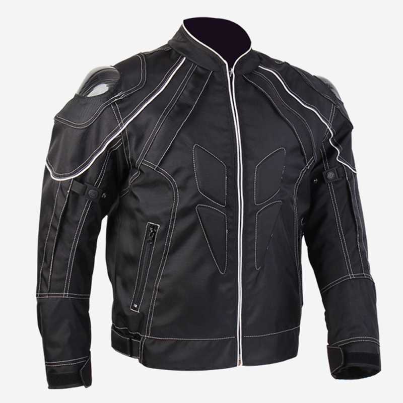 ILM New Motorcycle Racing Jacket With Carbon Fiber Armor Shoulder Professional Mesh Breathable Motocross Jacket Black Size S-XXL winter professional motorcycle jacket with shoulder