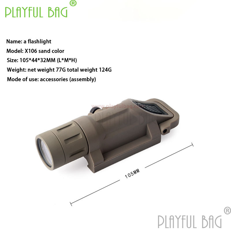 Outdoor CS strong light button version toy water bullet gun all Upgrade material hanging torch sand color refit accessories Z33