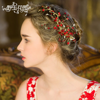 Fashion Crystals Wedding Bride Bridal Bead Flower Leaves Hair Comb Head Pieces Hair Pins Jewelry Accessories