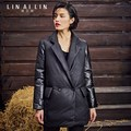 Woman Leather Down Coat The Long Jacket Sheepskin Coat
