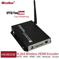 DHL EMS Free Shipping H 264 Wireless HDMI Encoder For Youtube Live Streaming HD Video Encoder