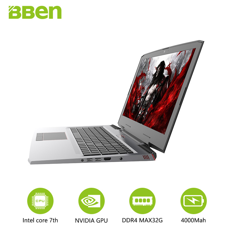 Bben Computer Notebook Gaming GTX1060 SSD NVIDIA Intel Quad-Core Ddr4-M.2 6GB with Geforce title=