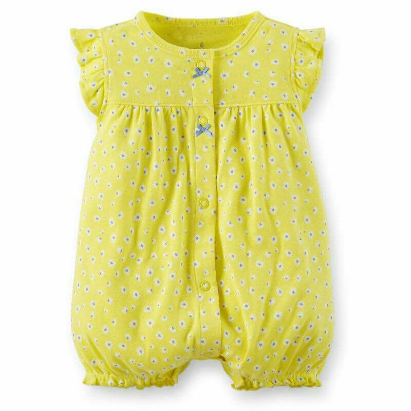 Baby Girl Clothes 2018 Baby Girl Bunny Romper New Born Baby Clothes Flower Baby Boy Summer Rompers Boys Short Sleeve Jumpsuit 3pcs set newborn infant baby boy girl clothes 2017 summer short sleeve leopard floral romper bodysuit headband shoes outfits