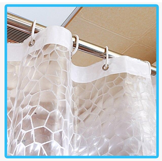 Hot Plastica EVA 3D Tenda Della Doccia Trasparente Clear Water Cube Prodotti Da