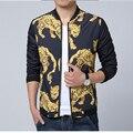 M-5XL!!! Новая Коллекция Весна 2015 мужская Мода Личности Высокого Развивать нравственность мужской Досуг марка Весна Куртка