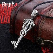 Старинные Животных Кулон Байер 925 стерлингового серебра дракон кулон ожерелье бесплатно дать Черный Веревка модные драгоценности A0711