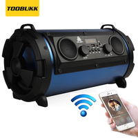 Portable 15W Big Power HiFi Wireless Bluetooth Speaker Woody Multifunction Subwoofer Cool LED Light Stereo Bass