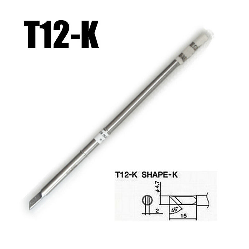 2pcs/lot High quality HAKKO Tntegrated Solder Iron Tips T12-K for Hakko Soldering Rework Station FX-951 FX-952