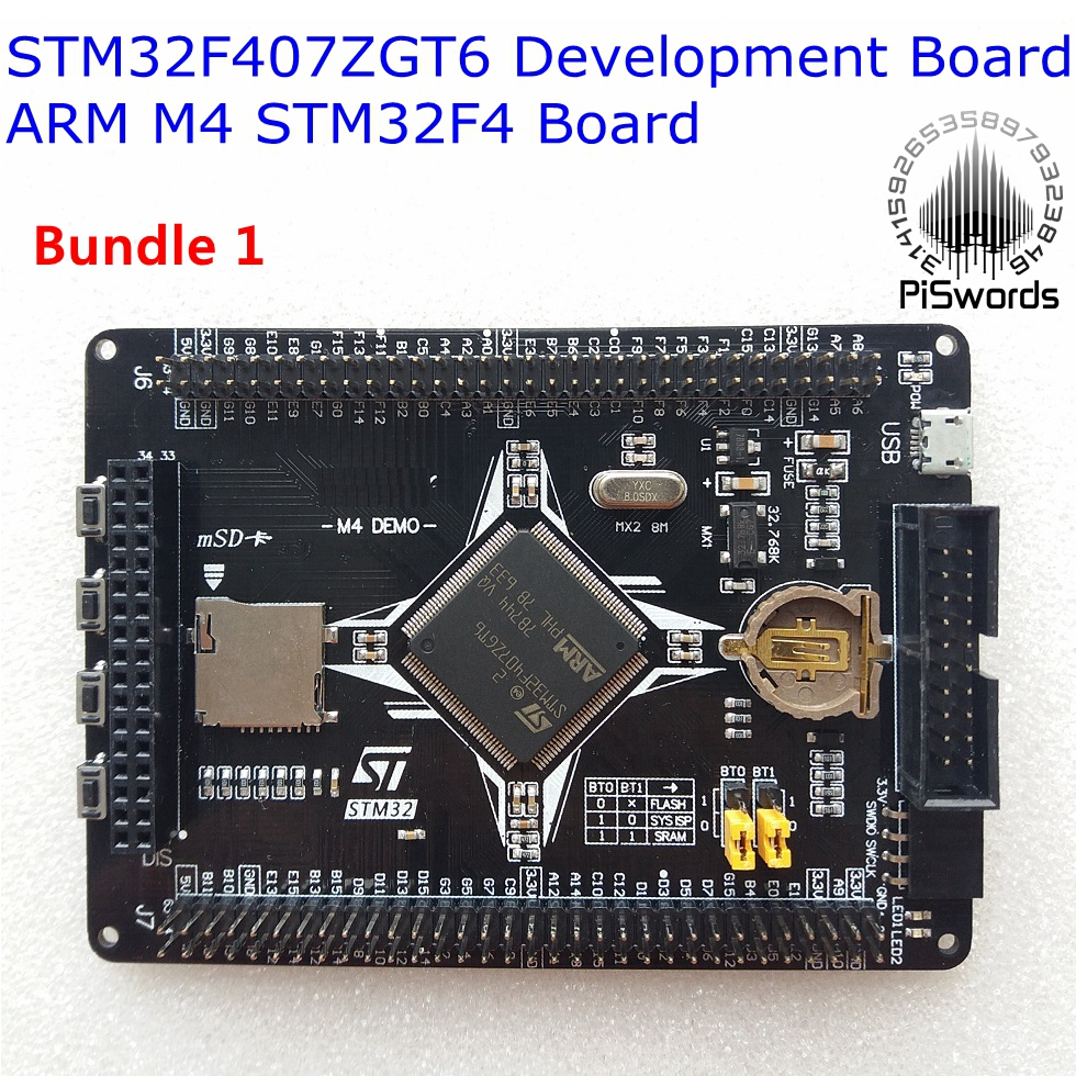 STM32F407ZGT6 Development Board ARM M4 STM32F4 Cortex-M4 Core Board Compatibility LCD STLINK GSM SENSOR Multiple Extension
