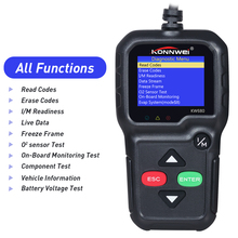 OBD2 garage tooling Full OBD Function Diagnostic Tool OBDII Auto Diagnostic Scanner for car 8 languages