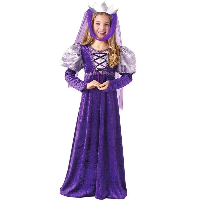 लंबी राजकुमारी ड्रेस राजकुमार हेलोवीन पोशाक बच्चों के कपड़े प्रदर्शन कपड़े Cosplay लड़कियों लड़कों राजकुमारी वेशभूषा लड़कियों के लिए