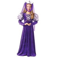 Long Princess Dress Christmas Costume Play For Kids Performance Clothing Wholesale Dance Clothes Cosplay Children Girls