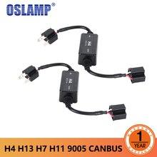 Oslamp Canbus декодер для автомобиля светодиодные фары H4 H7 H11 H8 H9 H13 9005/HB3 9006/HB4 декодер для LED Противотуманные огни лампы