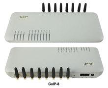 GoIP 8 портов межсетевое сопряжение VOIP GSM/голосовой sip-шлюз/gsm-шлюз-ip/GoIP8 GSM VOIP Gateway-Лидер продаж
