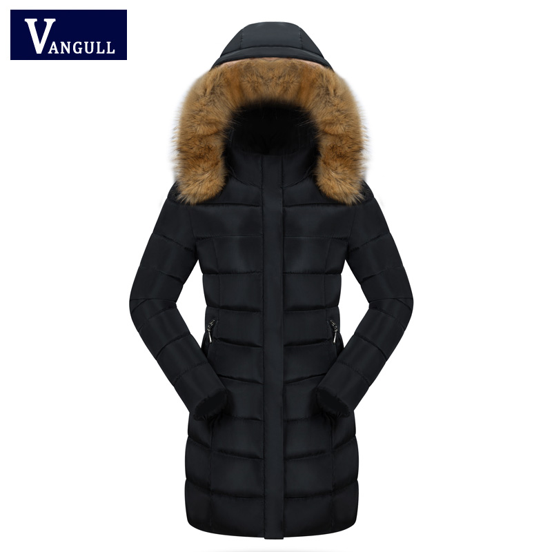 New Women Winter Large Fur Collar Hooded Woman Parka Removable Coat Long Thick Jacket Four Colors female outerwear Plue size 3XL 2017 winter new clothes to overcome the coat of women in the long reed rabbit hair fur fur coat fox raccoon fur collar