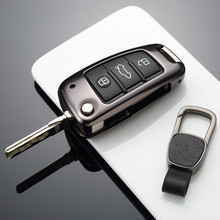 Liga de alumínio Chave Titular Chave Governanta Luva Protetora Saco Chave Do Caso Chave Para Audi A1 A3 A6 Q3 Q7 S3 TT