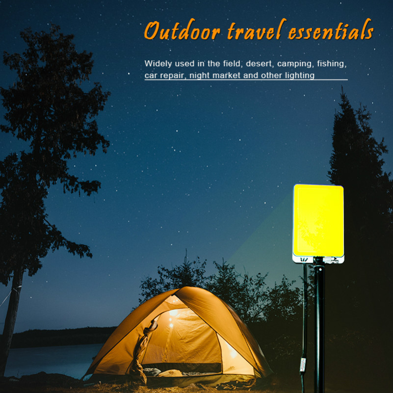 На открытом воздухе кемпинг лагерь 12V перезаряжаемый свет портативный прожектор палатка свет телескопический стержень Магнит крышка кокпи